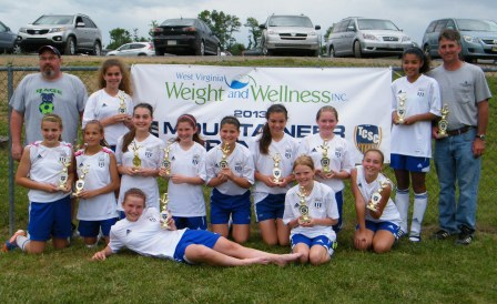 2013 WVA Mountaineer Tournament Champions - BRYC Rage U12G